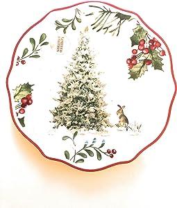 "Better Homes & Gardens Christmas""Tree"" Salad Plate"