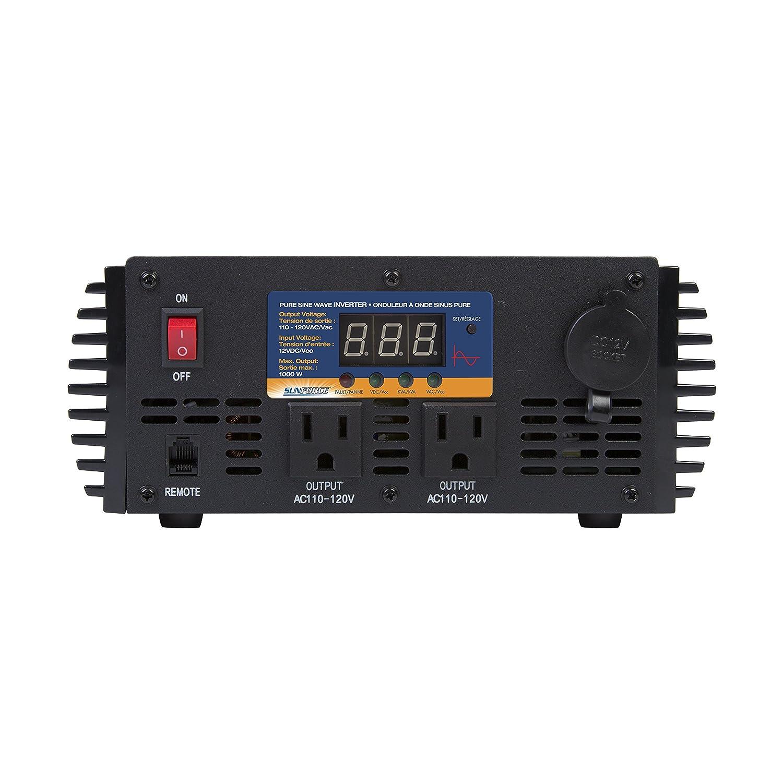 Sunforce 11240 1000 Watt Pure Sine Wave Inverter With Complete 1 Kva Circuit Design 50 Hz Oscillator Remote Control Automotive