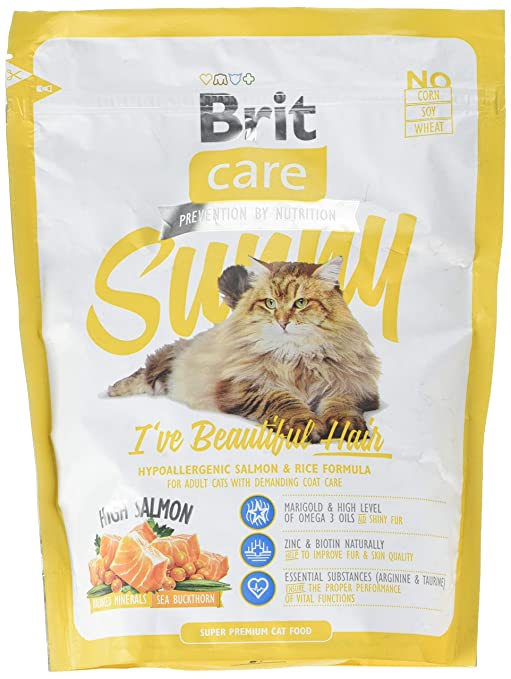 Brit Care Cat Sunny Ive Beautiful Hair Comida para Gatos - 400 gr ...