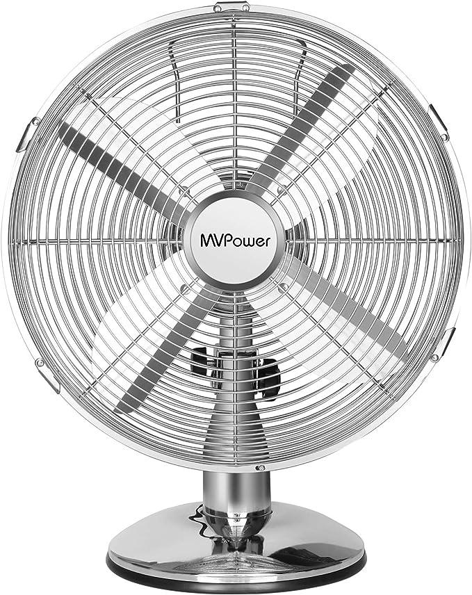Ventilador de mesa MVPower, ventilador de escritorio de 12 ...
