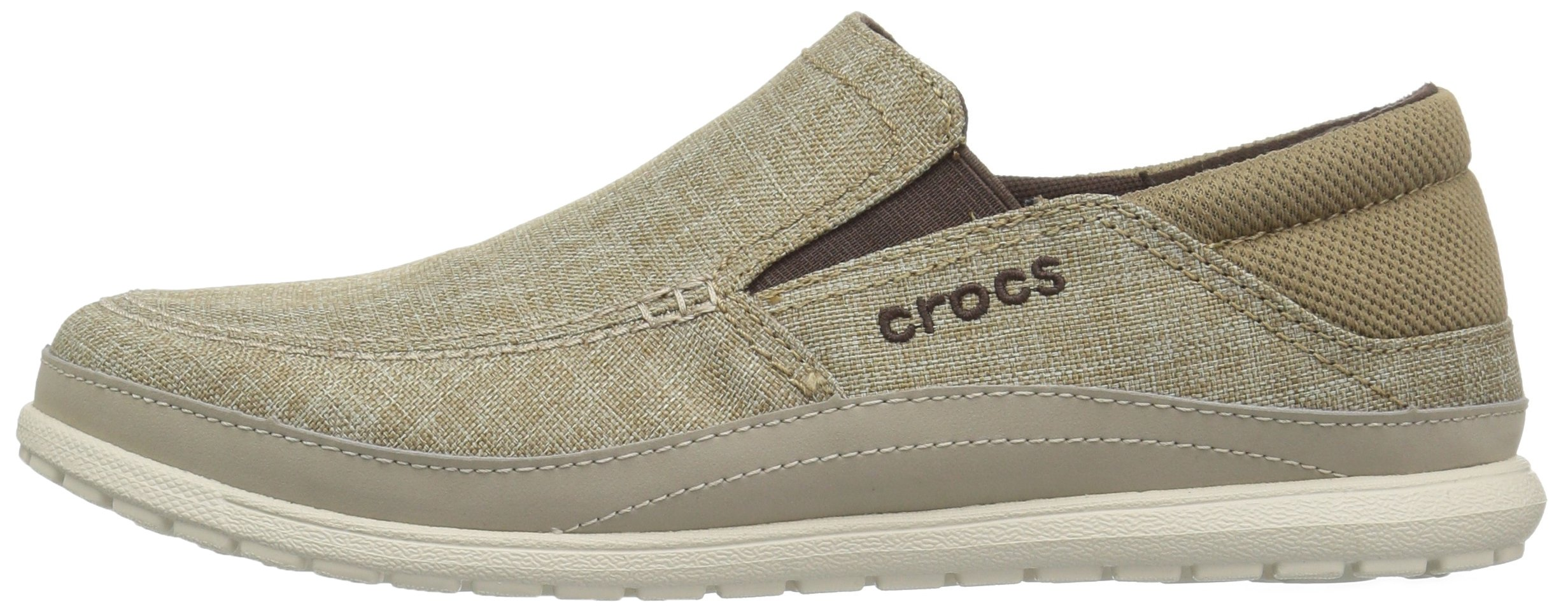 Crocs Men's Santa Cruz Playa Slip-On Loafer, Khaki/Stucco, 11 M US