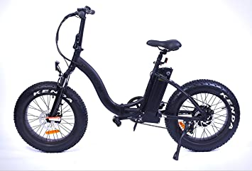Bicicleta eléctrica plegable Yadea France Black Fat Bike