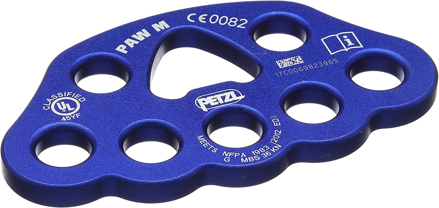 PAW L Black Large Rigging Anchor Rig Plate Petzl