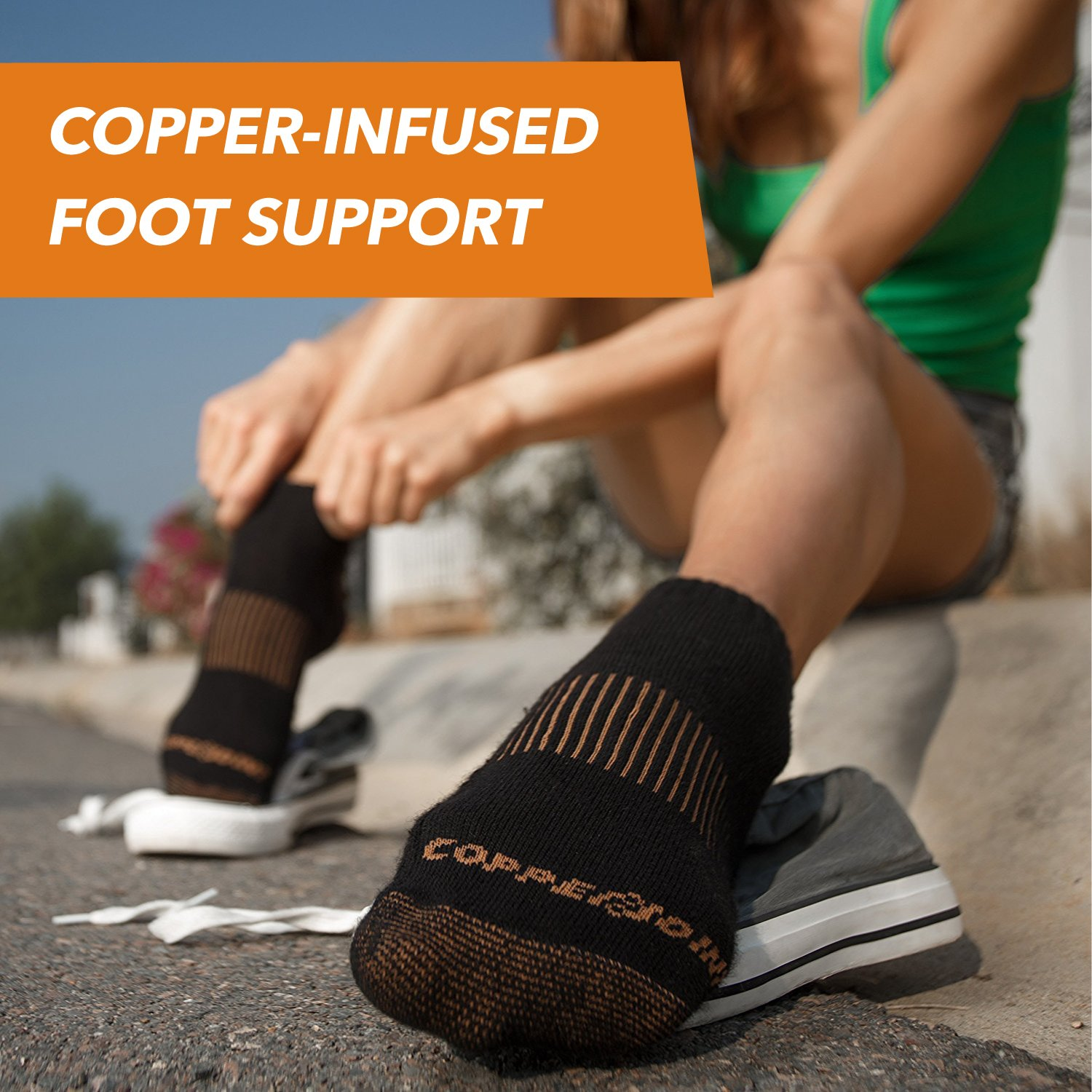CopperJoint Copper-Infused Compression Running Socks Pair