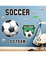 Soccer Room Decor - Giant Wall Decals