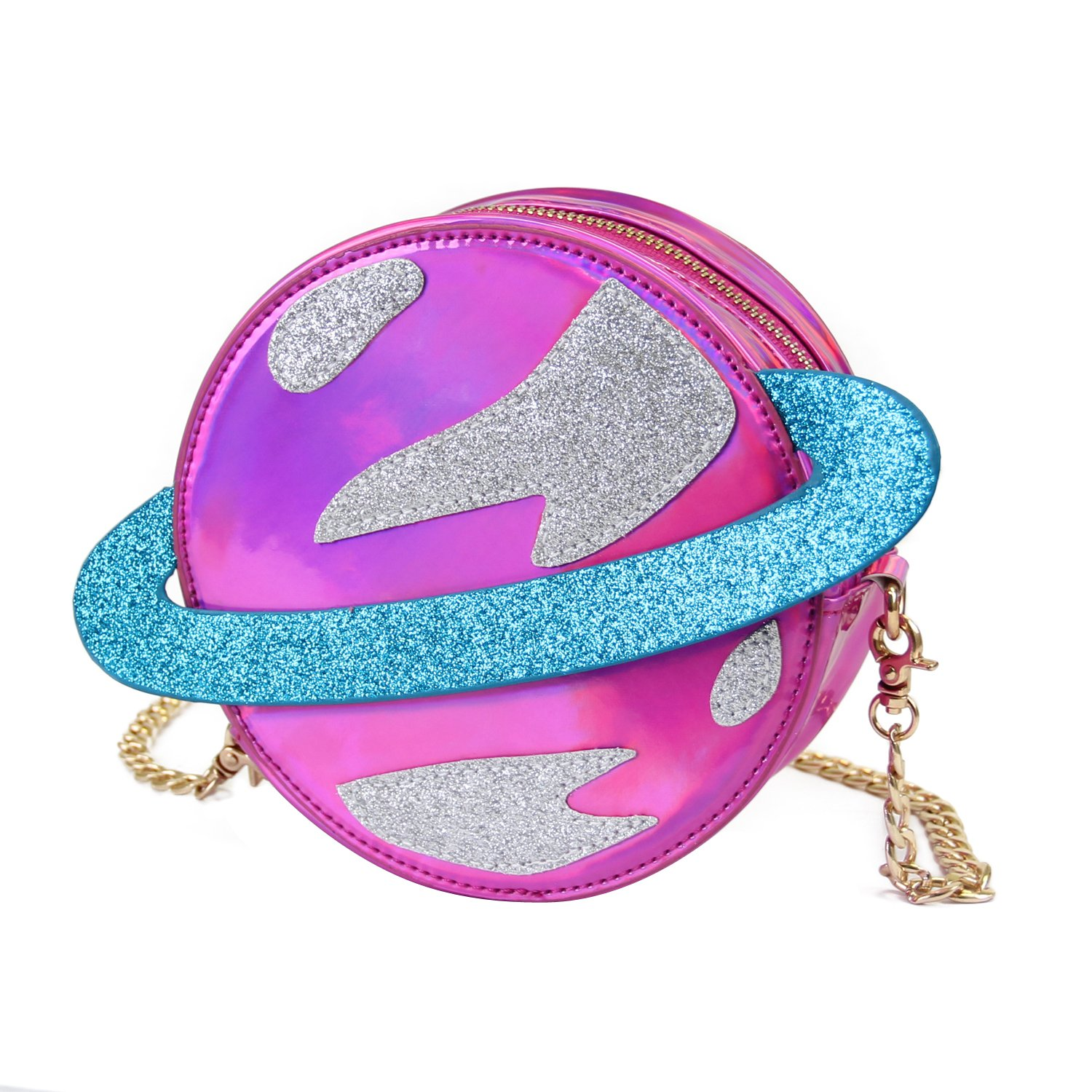 ویکالا · خرید  اصل اورجینال · خرید از آمازون · LUI SUI-Stunning Parent-child Circular planet party bag women laser planet orbit shoulder bag C54 (Parent, Purple) wekala · ویکالا