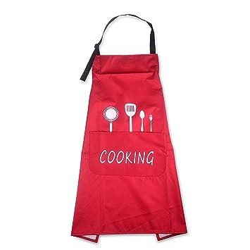 Grembiule Da Cucina Uomo.Grembiule Da Cucina Impermeabile Con 2 Tasche Grembiule Da Ristorante Bbq Bar Chef Cucina Regolabile Grembiuli Con Tasche Chef Di Cucina Gembiule