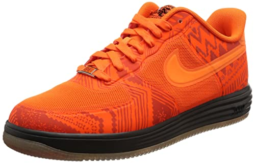 best service 09223 47763 Nike Lunar Air Force 1 Fuse BHM Mens Basketball Shoes 585714-800 Total  Orange