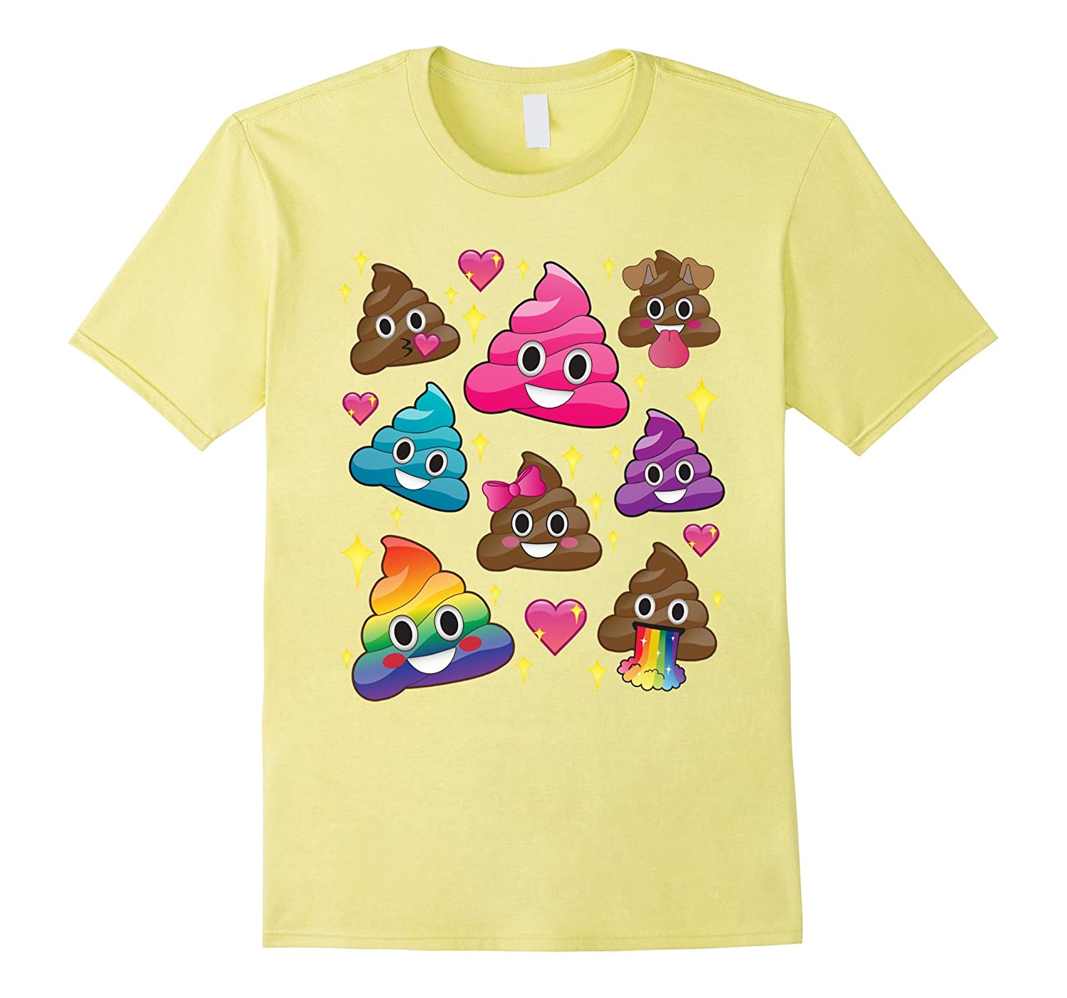 7525784f Cute Girl Rainbow Emoji Poop T-Shirt – BFF Gift or PJ Tee-CL – Colamaga