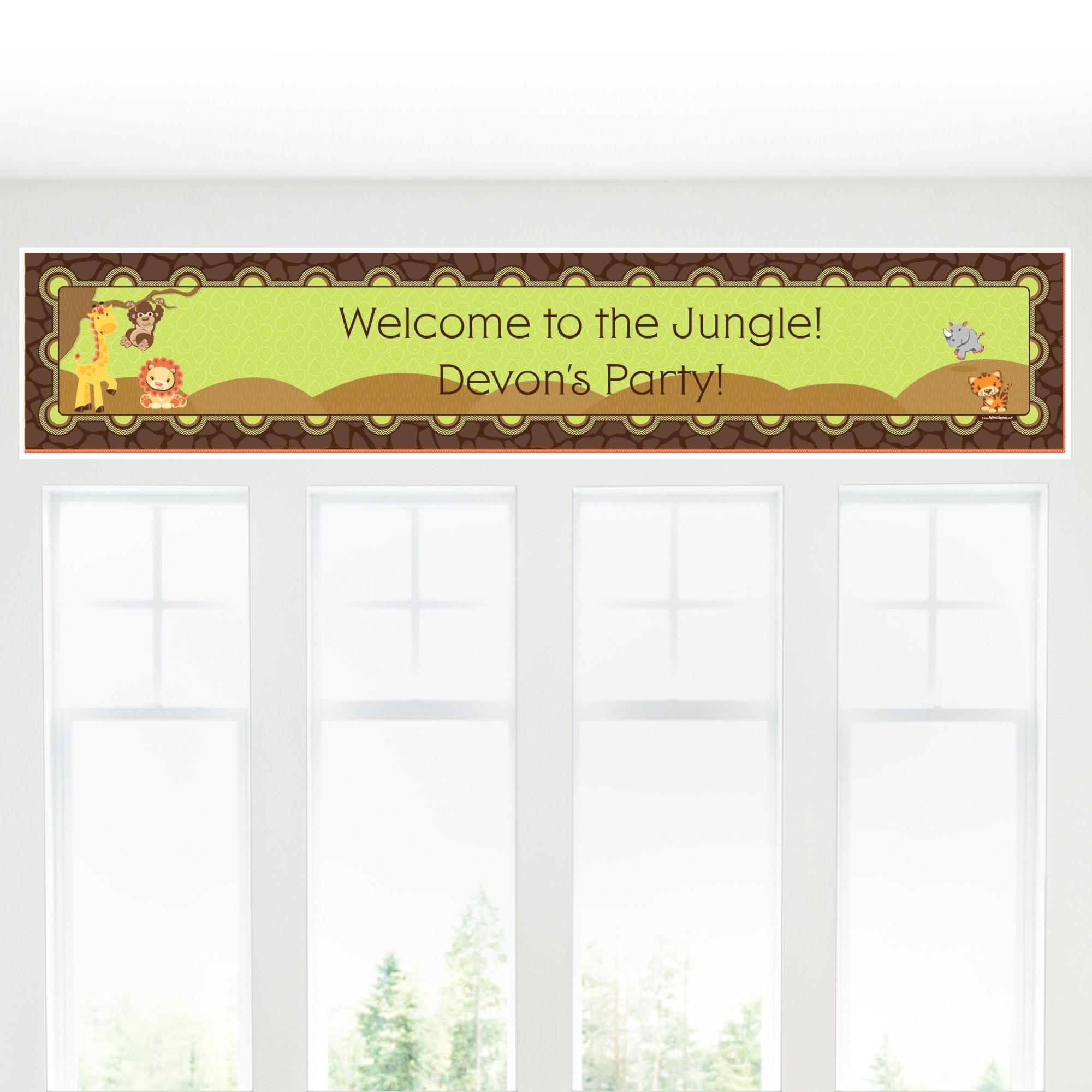 Custom Funfari - Fun Safari Jungle - Personalized Baby Shower or Birthday Party Decorations Party Banner