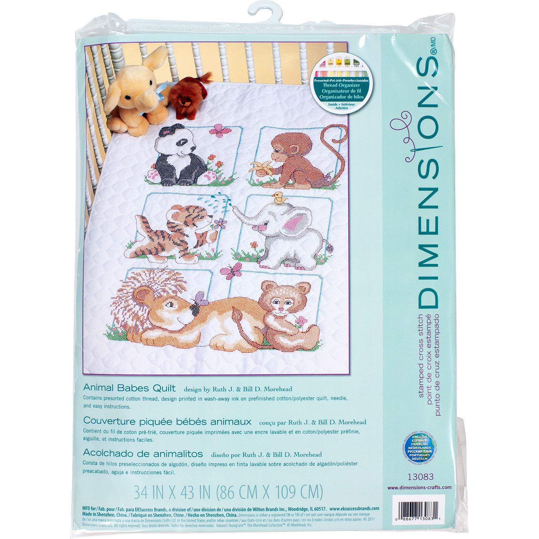Sweet Prayer Stamped Cross Stitch Quilt Kit-34 Inch x43 Inch