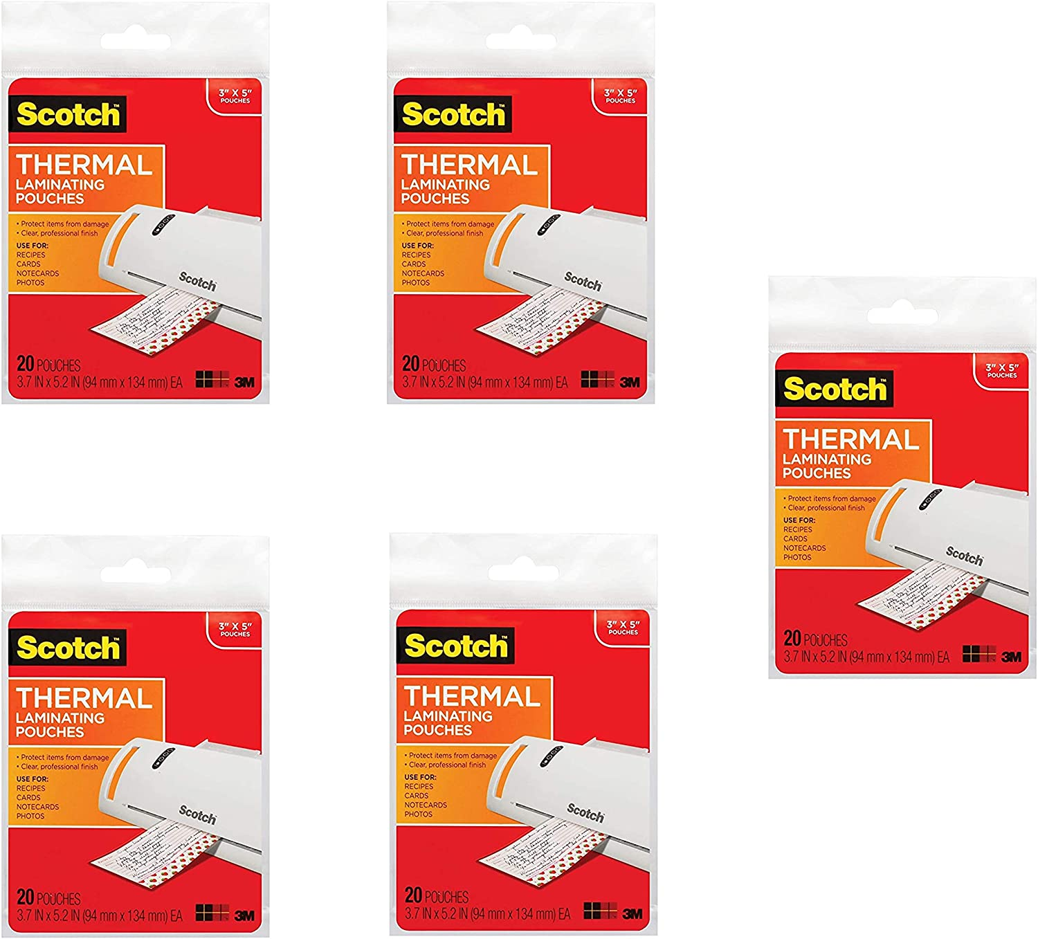 20-Pouches 3.7 x 5.2-Inches TP5902-20 - New Scotch Thermal Laminating Pouches
