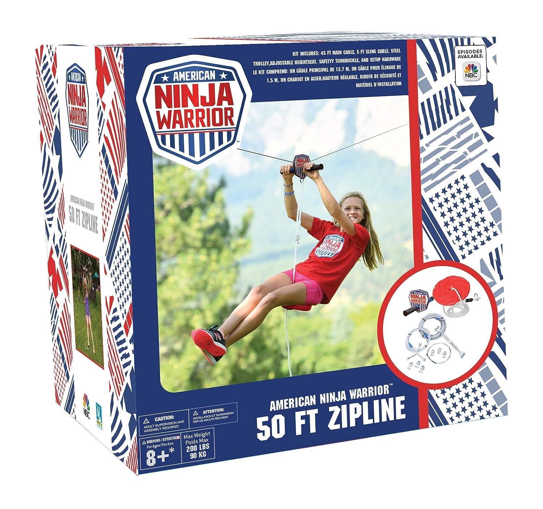 AnW American Ninja Warrior Zipline: (80 pies y 50 pies Versiones ...