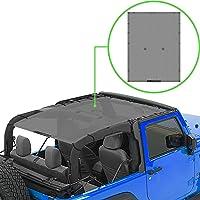 Alien Sunshade Jeep Wrangler JK (2007-2018) – Full Length Mesh Sun Shade for Jeep JK 2 Door - Blocks UV, Wind, Noise…