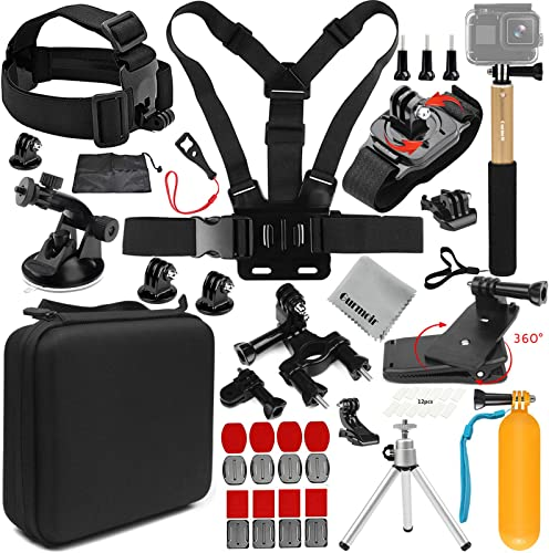 Gurmoir 18in1 Action Camera Accessories Outdoor Climbing Hiking Universal Action Camera Kit for GoPro Hero 8 Max 7 6 5 4Session5 4 AKASO DJI Osmo Action SJCAM APEMAN and More Action Cameras AT09