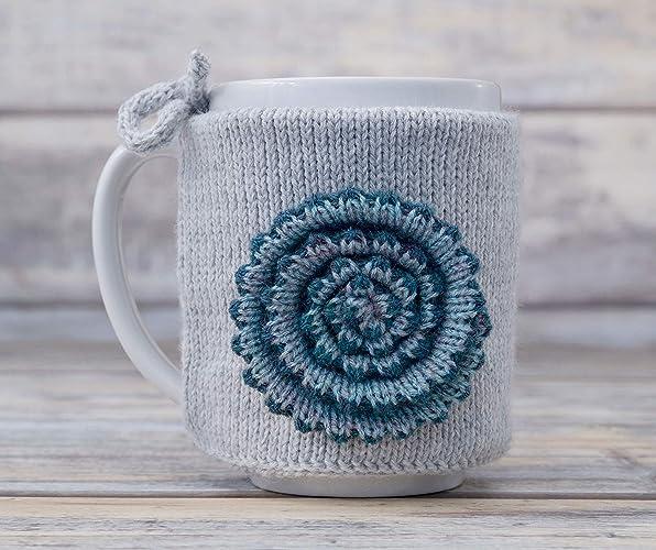 Amazon Cup Coffee Cozy Sleeve Mug Warmer Knitted Tea Cosy Handmade
