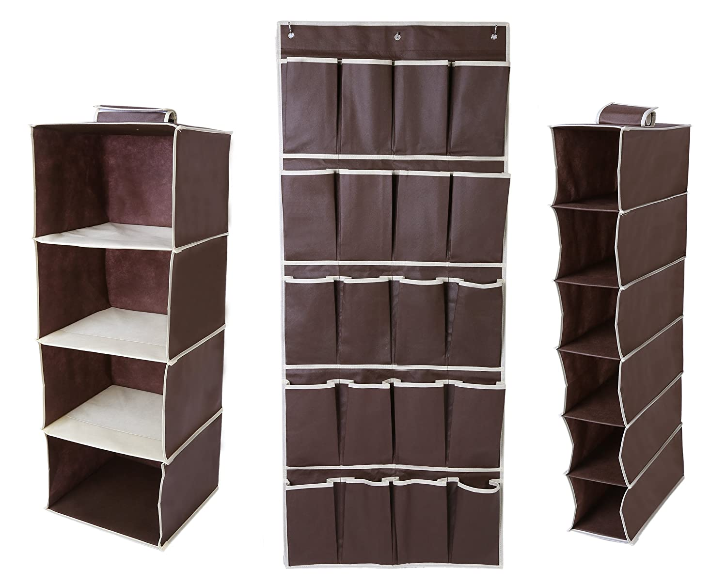 Amazon.com: Juvale Hanging Closet Organizer Set - Includes Hanging 4 ...