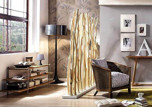 Büro design holz  Raumteiler Mahagoni natur Holz GEORGE   Paravent rustikal ...