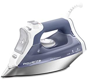 Rowenta DW8061 Professional Auto Shut Off Steam Iron with 330-Hole Stainless Steel Soleplate, 1715-Watt, Blue