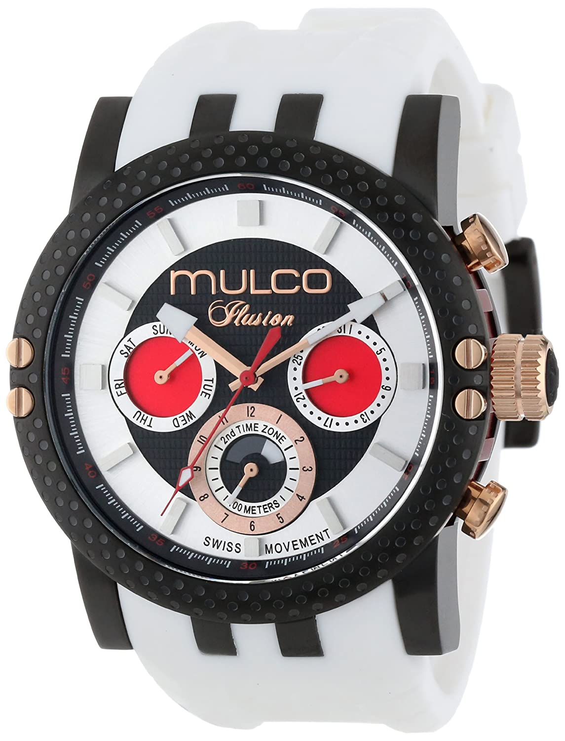 MULCO Unisex MW3-11169-015 Lincoln Illusion Chronograph Analog Swiss Movement Uhr