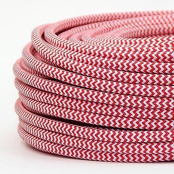 G&J 3 adrig Verschiedene Farben Modern Textil-Kabel Stoffkabel ...