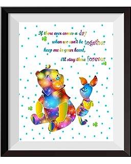 Amazoncom Uhomate Nursery Decor Winnie The Pooh Quotes Winnie Pooh