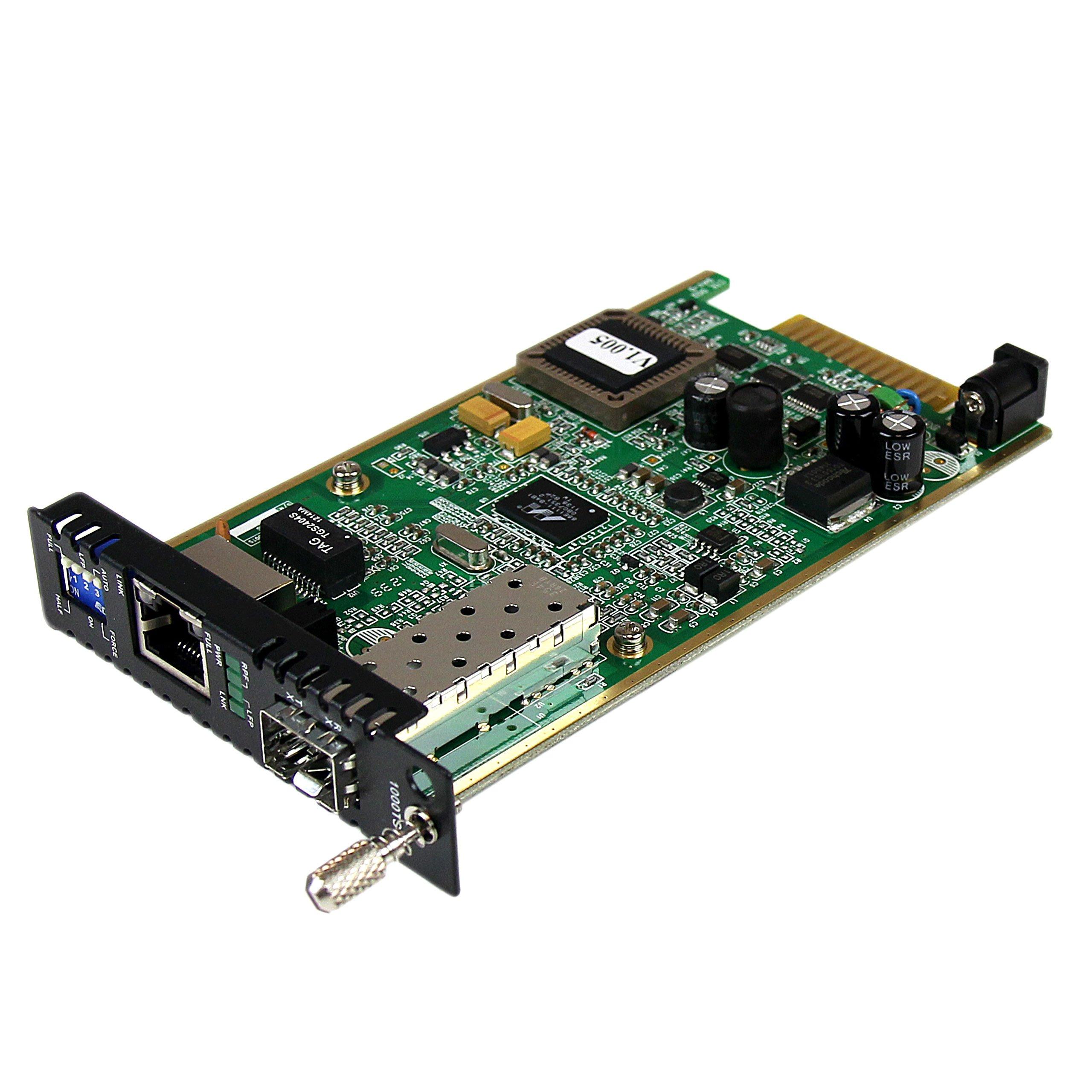 StarTech.com Gigabit Ethernet Fiber Media Converter Card Module with Open SFP Slot (ET91000SFP2C)