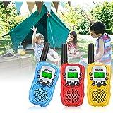 Walkie Talkies, Dignel Walkie Talkies for Kids, 3 Pack Mini 22 Channels Radio Toy, 3 Mile Range Kids Walkie Talkies for Outside Adventures, Camping, Hiking