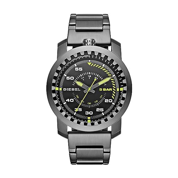 Diesel Reloj analogico para Hombre de Cuarzo con Correa en Acero Inoxidable DZ1751: Amazon.es: Relojes