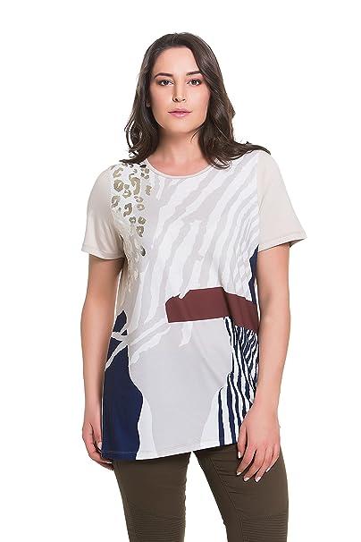 e32f9e8e27bc3 Tops   Plus Women s Plus Size Safari Shimmer Tunic - SAND at Amazon ...