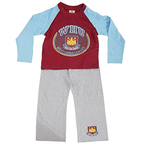 West Ham United FC - Pijama de manga larga y pantalón largo de West Ham United FC (5-6 Años/Granate/azul): Amazon.es: Ropa y accesorios