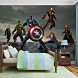 Papier Peint Photo Mural 3362P8 - Collection Marvel Avengers - XXL - 368cm x 254cm - 4 Part(s) - Imprimé sur 115g/m2 papier mural