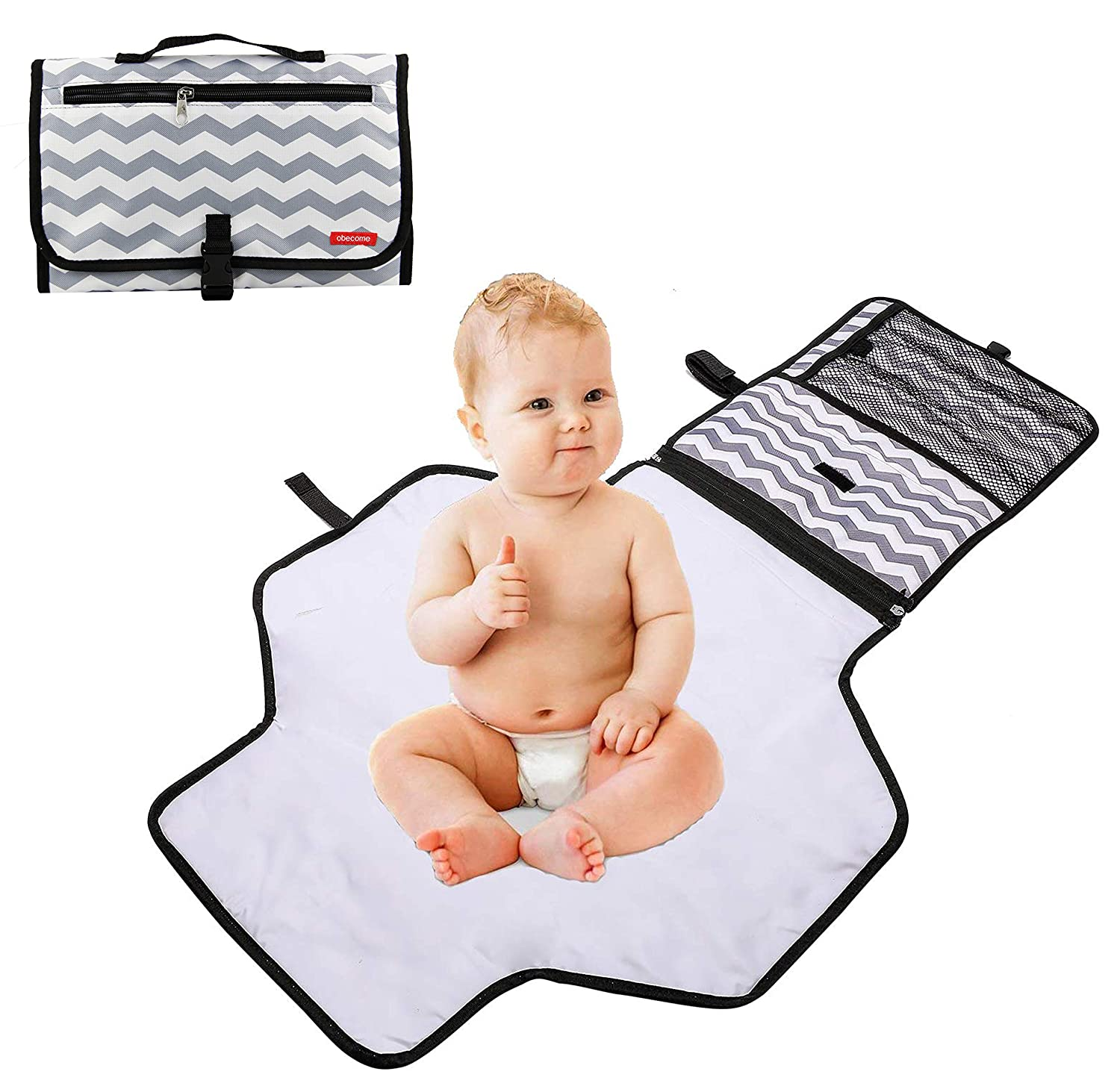 Zooawa Travel Changing Mat,waterproof Changing Diaper Pad Mat Folding Station Cheapest Price From Our Site Changing Pads & Covers