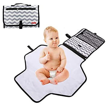 7fdec9ccd28 Amazon.com   Obecome Portable Waterproof Baby Diaper Changing Pad ...
