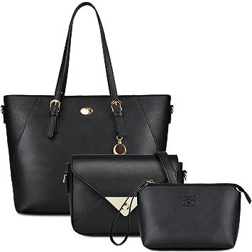 Bolsos Mujer,Coofit Bolsos Cuero Bolso Bandolera Bolso Tote Bag Bolsos Shopper Bolso Bowling Bolsos de Mano Set Bolsos de Mujer: Amazon.es: Equipaje