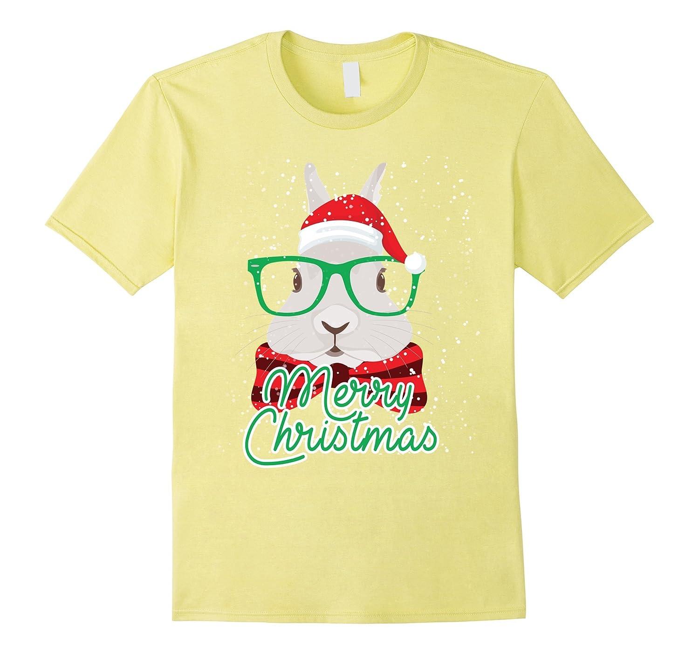 Rabbit Bunny Merry Christmas TShirt-Art
