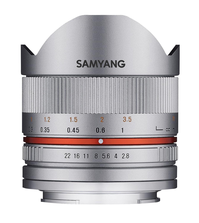 Samyang F1220306102 - Objetivo fotográ fico CSC-Mirrorless para Sony E (Distancia Focal Fija 8mm, Apertura f/2.8-22 II UMC, Ojo de pez), Plateado