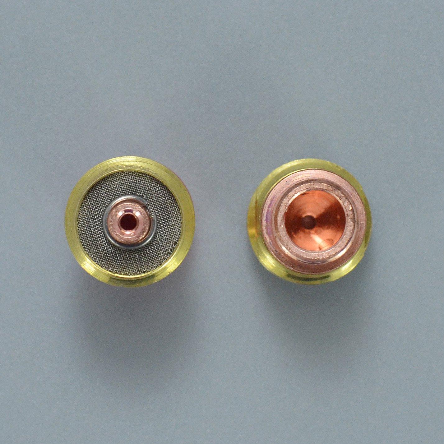 TIG Stubby gaz lentille 17GL116 1//16/& 1,6mm Pour SR WP 17 18 26 TIG torche de soudage 3pk