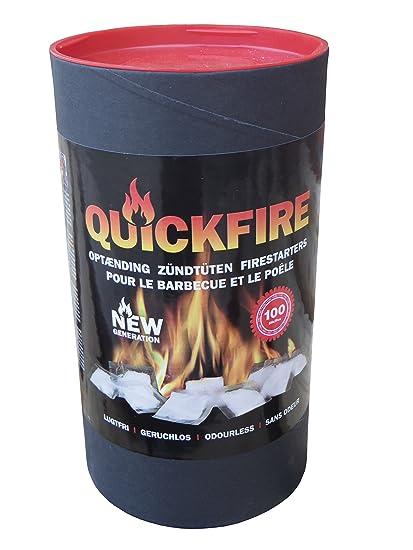 Cigarrillos Quickfire para chimenea Horno Barbacoa 300 St. Bolsas de parafina