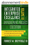 Integrated Enterprise Excellence, Vol. III Improvement Project Execution: A Management and Black Belt Guide for Going Beyond Lean Six Sigma and the Balanced Scorecard (English Edition)