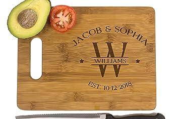 Amazon Com Krezy Case Wooden Cutting Board Bride Gift Bridal