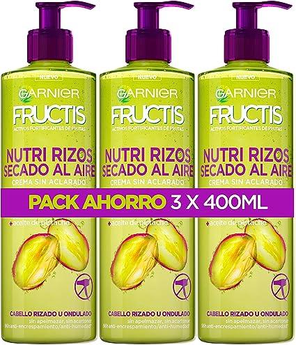 Garnier Fructis Nutri Rizos Secado al Aire Crema Sin Aclarado para ...