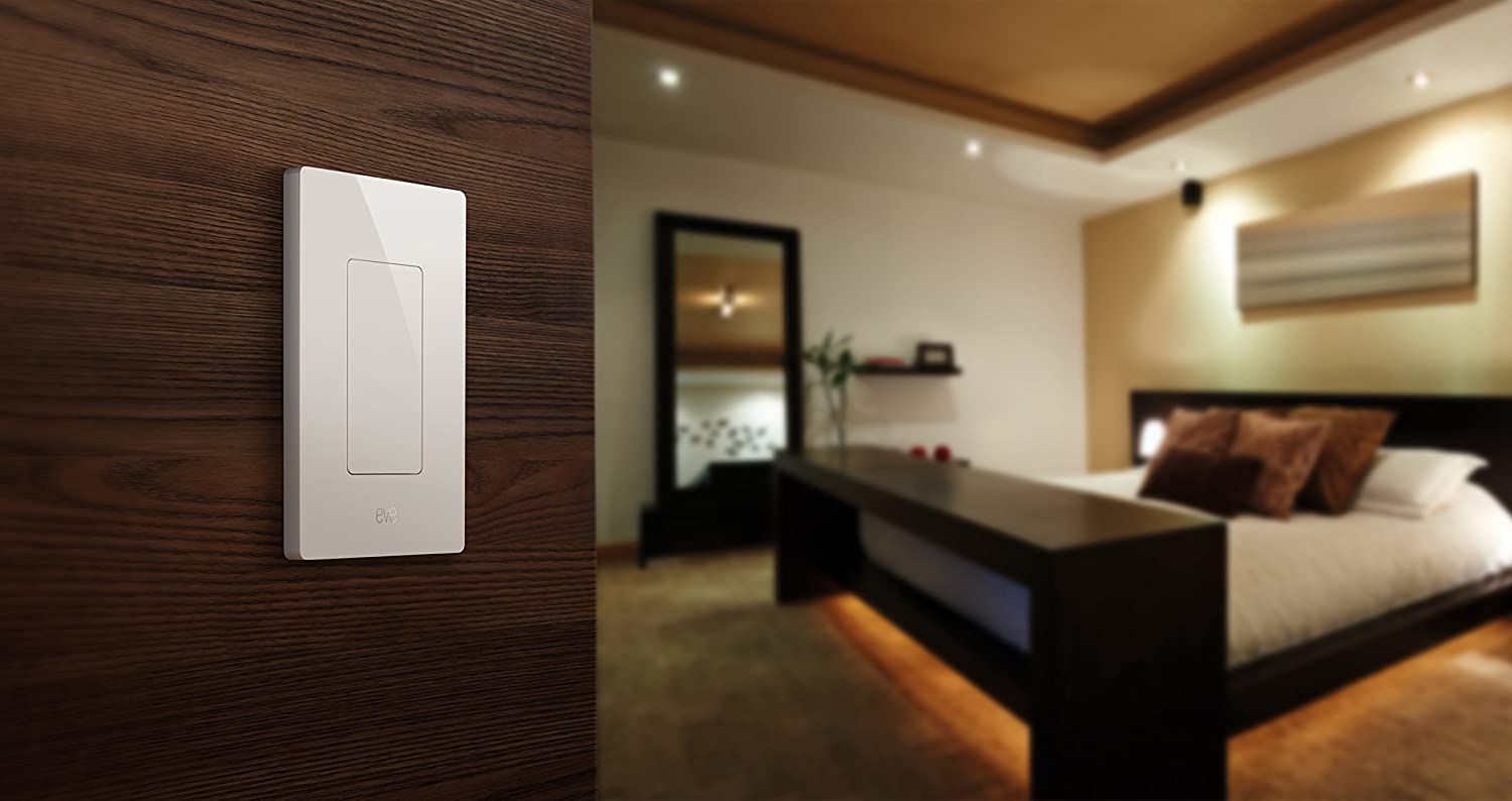 Eve Light Switch Connected Wall Easily Upgrade To 3 Pole Fan Intelligent Automate Your Lighting With Timers And Rules Bluetooth Low Energy White Apple