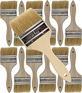 Pro Grade - Chip Paint Brushes - 12 Ea 3 Inch Chip Paint Brush