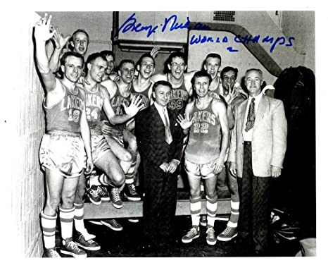 17444c8b31a Image Unavailable. Image not available for. Color: Autographed George Mikan  8x10 Minneapolis Lakers Photo