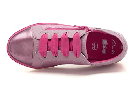 39c7a7c5c5b2 Clarks Out Of School Zora Zippy Mulberry Pink Leather UK size 3 F   Amazon.co.uk  Shoes   Bags
