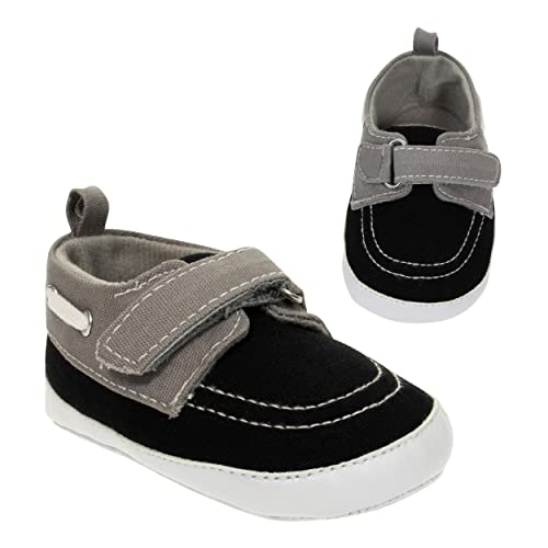 63c0e2b6a0d5e BARE HUGS Baby Boys Soft Infant Boat Shoe Style Loafer (See More Colors and  Sizes)