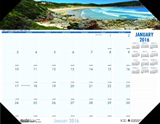 product image for House of Doolittle Earthscapes Coastlines of The World Desk Pad Calendar 12 Months January 2015 to December 2015, 22 x 17 Inches, Recycled (HOD178)