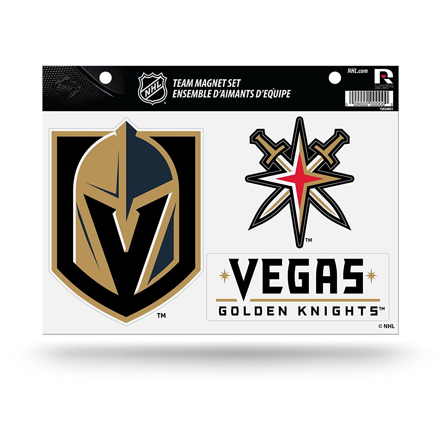 Rico NHL Golden Knights Las Vegas Team Magnet Sheet Sports Fan Home Decor One Size Multicolor