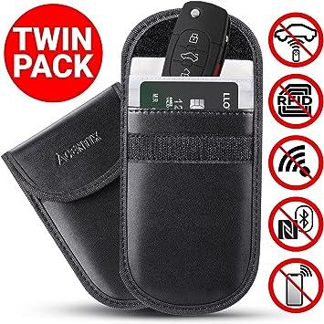 Car Key Signal RFID Blocking Pouch 2x Anti-Theft Faraday Bag Keys Fogs Protector